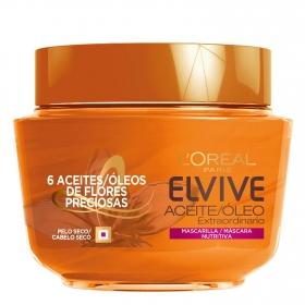 Mascarilla capilar bálsamo nutritivo aceite extraordinario L'Oréal Elvive 300 ml.