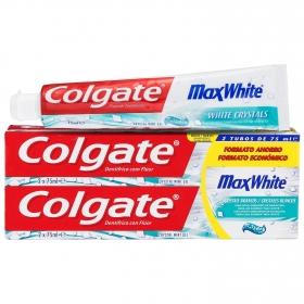 Dentífrico Max White Tubo Duplo Colgate pack de 2 unidades de 75 ml.