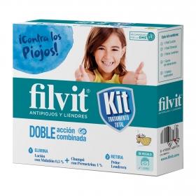 Kit Tratamiento Flivit con Loción, Champú y Peine 125ml+125ml