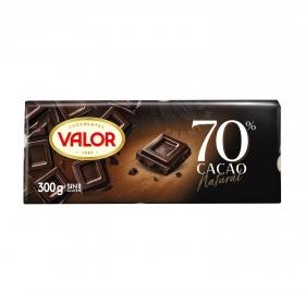 Chocolate negro 70% Valor sin gluten 300 g.