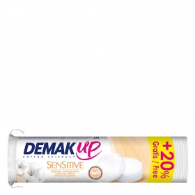 Discos desmaquillantes Sensitive Demak Up 72 ud.