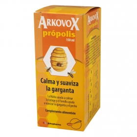 Jarabe para el cuidado de la garganta Arkovox 150 ml.