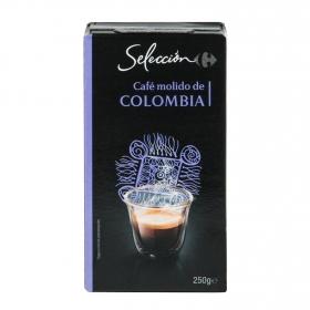 Café molido natural Colombia Carrefour Selección 250 g.