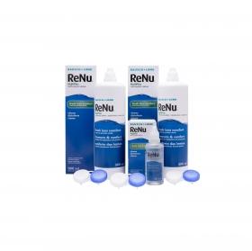 Solución única RENU Multiplus + regalo bote 60 ml. Bausch + Lomb pack de 2 unidades de 500 ml.