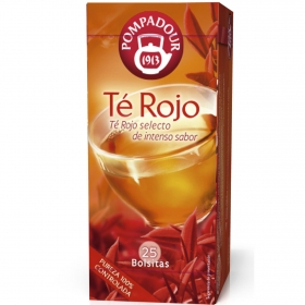Té rojo en bolsitas Pompadour 25 ud.