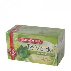 Té verde con menta en bolsitas Pompadour 25 ud.