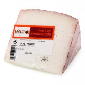 Queso semicurado de cabra graso El Pastor de la Polvorosa cuña 1/8, 375 g aprox