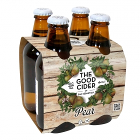 Sidra The Good Cider sabor pera pack de 4 botellas de 25 cl.