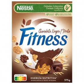Cereales integrales con chocolate negro Fitness Nestlé 375 g.