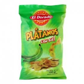 Snacks plátano con sal El Dorado 100 g.