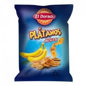 Snacks plátano dulces El Dorado 100 g.
