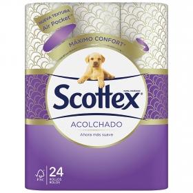 Papel higiénico acolchado Scottex 24 rollos.