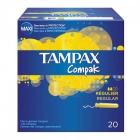 Tampones con aplicador regular Tampax caja de 20 uds.