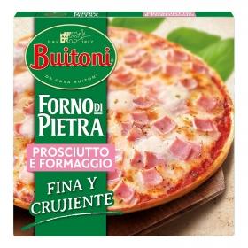 Pizza de jamón y queso fina y crujiente Forno Di Pietra Buitoni 350 g.