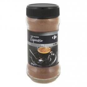 Café soluble espresso intenso Carrefour 80 g.