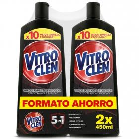Limpiador de vitrocerámica en crema Vitroclen pack de 2 unidades de 450 ml.