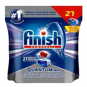 Lavavajillas a máquina en pastillas quantum max Finish Powerball 27 ud.