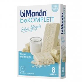 Barritas sustitutive sabor yogur Bimanán 8 ud.