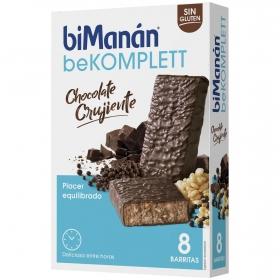 Barritas komplett de chocolate crujiente Bimanán 8 ud.