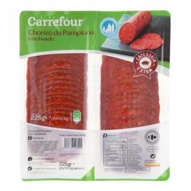 Chorizo pamplona en lonchas Carrefour pack de 2 unidades de 112,5 g.