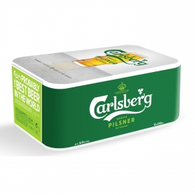 Cerveza Carlsberg pack de 12 latas de 33 cl.