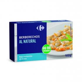 Berberechos al natural Carrefour 58 g.