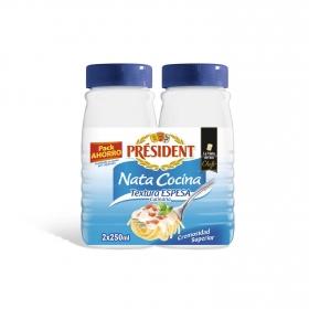 Nata para cocinar espesa Président pack de 2 ud. de 250 ml.