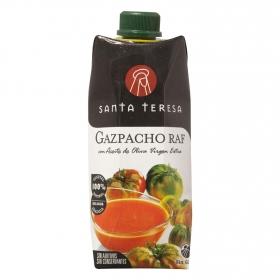 Gazpacho Raf con aceite de oliva virgen extra Santa Teresa 500 ml.