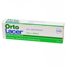 Dentífrico sabor menta especial ortodoncia Lacer 75 ml.