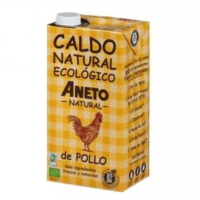 Caldo natural de pollo ecológico Aneto sin gluten 1 l.