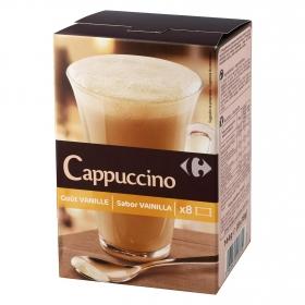 Café soluble cappuccino vainilla en sobres Carrefour 8 unidades de 8 g.