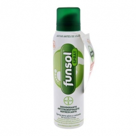 Spray desodorante para pies y calzado Funsol Bayer 150 ml.