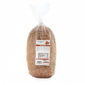 Pan payés con fibra rebanado 400 gr