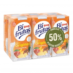 Zumo tropical Original Bifrutas pack de 6 briks de 20 cl.