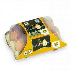 Huevos clase XL El Granjero fajin 1/2 docena