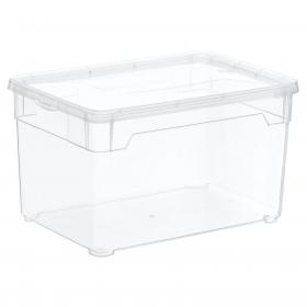 Caja con Tapa de Plástico Basic CARREFOUR HOME 5 Litros - Transparente