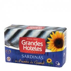 Sardinas en aceite de girasol Grandes Hoteles sin gluten 88 g.