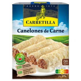 Canelones de carne Carretilla 375 g.