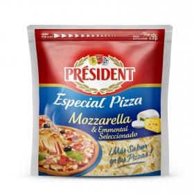 Queso rallado gratinar mozza + emmental Président 150 g.