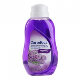Ambientador mecha lavanda Carrefour 375 ml.