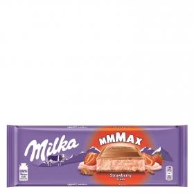 Chocolate con leche relleno de fresa Milka 300 g.