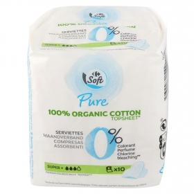 Compresas ultrafinas super con alas ecológicas Carrefour Eco Planet 10 ud.