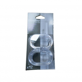 Anillas de cortina de   3,5CM CARREFOUR HOME - Transparente