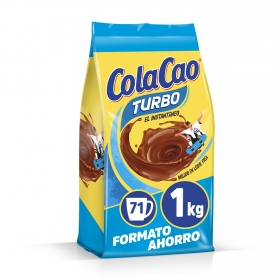 Cacao soluble instantáneo Cola Cao Turbo 1 kg.