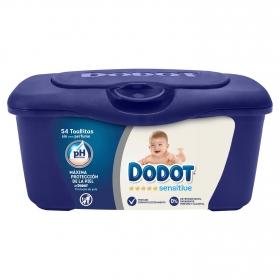 Toallitas de bebé DODOT Sensitive, caja 54 ud con Caja Recambio
