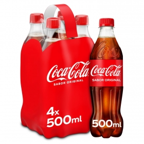 Refresco de cola Coca Cola pack de 4 botellas de 50 cl.