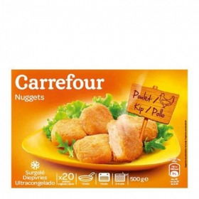 Nuggets 100 % pollo Carrefour 500 g.