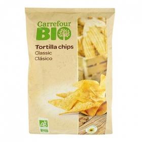 Nachos ecológicos Carrefour Bio 125 g.
