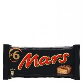 Barrita de chocolate y galleta con caramelo Mars 6 ud.
