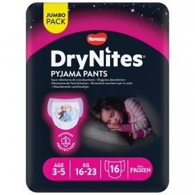 Braguitas Absorbentes DryNites® Niña Talla 3-5 años 16 uds